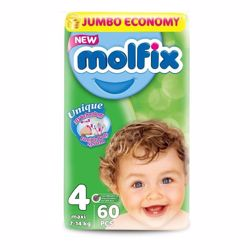 Molfix Comfortable Maxi Baby Diapers 7-14 Kg 60 Count Size 4