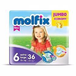 Molfix Comfortable X-Large Baby Diapers Above 15 Kg Size 6