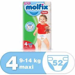Molfix Comfortable Maxi Baby Diapers 9-14 Kg 52 Count Size 4