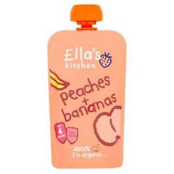 Ella''S Kitchen Organic Puree Peaches + Bananas 120 Gr