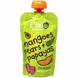 Ella''S Kitchen Organic Puree Mangoes Pears Papayas 120 Gr