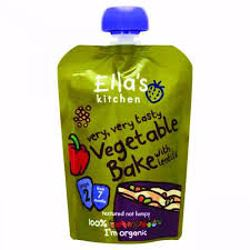 Ella''s Kitchen Puree Vegetable Bake With Lentils 130 Gr