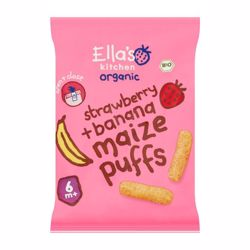 Ella''S Kitchen Organic Strawberry Banana Melty Puffs 20 Gr