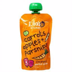 Ella''S Kitchen Organic Puree Carrots Apples Parsnip 120 Gr