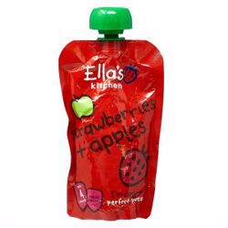 Ella''S Kitchen Organic Puree Strawberries Apples 120 Gr