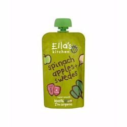 Ella''S Kitchen Organic Puree Spinach Apples Swedes 120 Gr