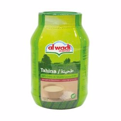 Al Wadi Tahina Plastic Jar 100% Ground Sesame 908 Gr