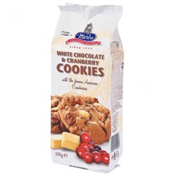 Merba White Chocolate Cranberry Cookies 200 Gr