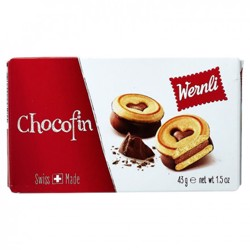 Wernli Pocket Chocofin Wafer 43 Gr