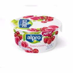 Alpro Pbay Raspberry Cranberry Yogurt 150 gr