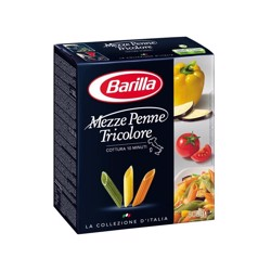 Barilla Mezze Penne Tricolor Pasta 500 gr