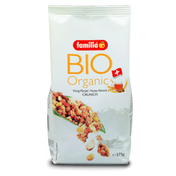 Familia Organic Honey Almond Crunch 375 gr