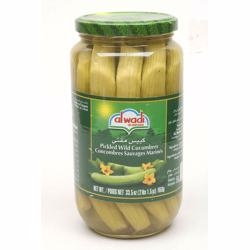 Al Wadi Pickled Wild Cucumbers In Glass Jar 1 kg
