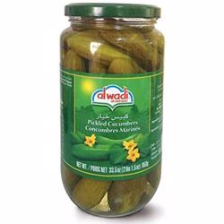 Al Wadi Pickled Cucumbers In Glass Jar 1 kg