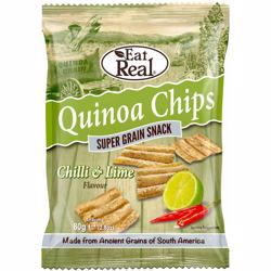Eat Real Quinoa Chilli & Lime Chips 80 gr