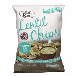 Eat Real Lentil Chips Creamy Dil 135 gr