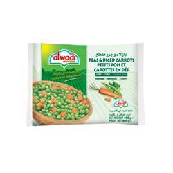 Al Wadi Frozen Peas & Diced Carrots 400 gr