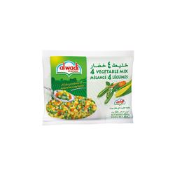 Al Wadi Frozen 4 Vegetable Mix 400 gr