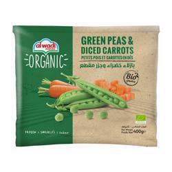 Al Wadi Frozen Peas & Diced Carrots Organic 400 gr