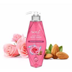 Sovi Body Wash Soothing Rosewater & Almond 400Ml
