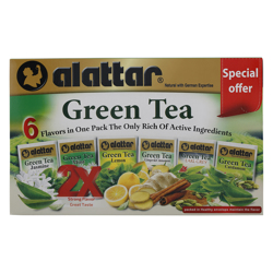 Alattar 6 Flavours 24 Green Tea Bags 36 gr