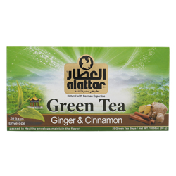 Alattar Ginger & Cinnamon 20 green Tea Bags 30 gr