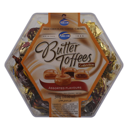 Arcor Assorted Flavours Butter Toffees 300 gr