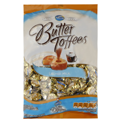 Arcor Butter Leche and Milk Toffees 6.3 g Pack of 150
