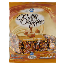 Arcor Dulce De Leche and Caramel Butter Toffees 7 gr Pack of 72