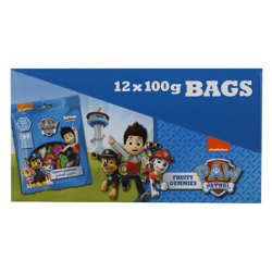 Bazooka Paw Patrol Mixed Flavour Gum Candies 100 gr Pack of 12