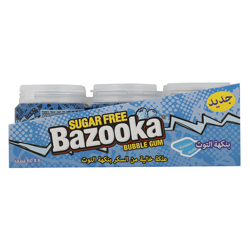Bazooka Raspberry Flavour Sugar Free Gum 84 gr Pack of 6