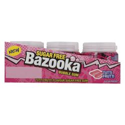 Bazooka Tutti Fruity Flavour Sugar Free Gum 84 gr Pack of 6