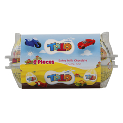 Balaban Toto Extra Milk Chocolate 20 gr Pack of 6