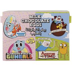 Bazooka Adventure Time Egg Shaped Milk Chocolate 20 gr Pack of 24
