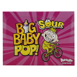 Bazooka Big Baby Sour Strawberry and Raspberry Hard Candy 32 gr Pack of 12