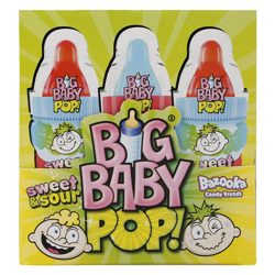Bazooka Big Baby Sweet & Sour Pop Hard Candy 36 gr Pack of 12