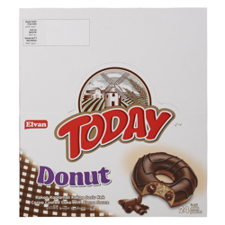 Elvan Today Choco Donut 50 gr Pack of 24