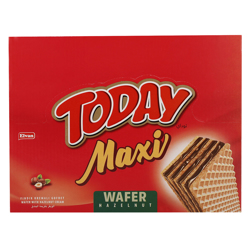 Elvan Today Maxi Hazelnut Wafer 38 gr Pack of 24