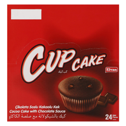 Elvan Cupcake Chocolate Cocoa Cake 25 gr Pack of 24