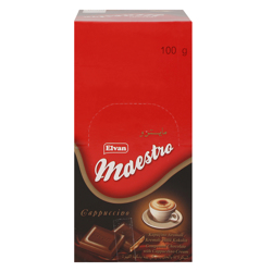 Elvan Maestro Cappuccino Cream Chocolate 100 gr Pack of 12