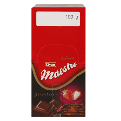 Elvan Maestro Strawberry Cream Chocolate 100 gr Pack of 12