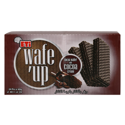 Eti Wafe''up Cocoa Cream Wafer 40 gr Pack of 24