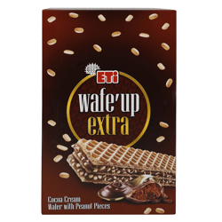 Eti Wafe''up Extra Cocoa Cream with Peanut Pieces Wafer 29 gr Pack of 24