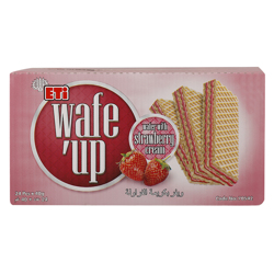 Eti Wafe''up Strawberry Cream Wafer 40 gr Pack of 24