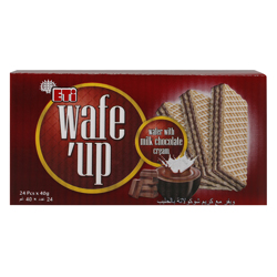 Eti Wafe''up Milk Chocolate Cream Wafer 40 gr Pack of 24