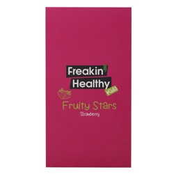 Freakin Healthy Fruity Stars Strawberry Flavour Jelly 21 gr Pack of 12