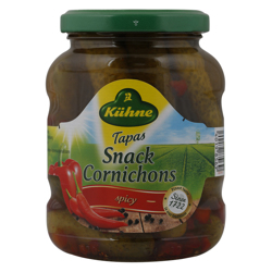Kuhne Tapas Small Gherkins Spicy Cornichons 330 gr