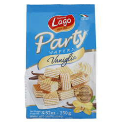 Lago Party Wafers with Vanilla Cream 250 gr