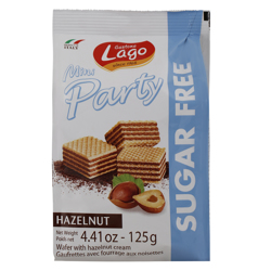 Lago Mini Party Wafer with Hazelnut Cream 125 gr