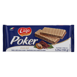 Lago Gastone Poker Cocoa Cream Wafer 150 gr